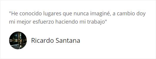 Testimonio de Ricardo Santana